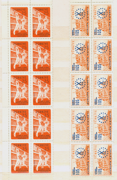 1959 10th Anniversary of the council of europe+11th european basketball championship 10 series each