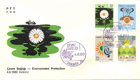 1980 Environment protection FDC