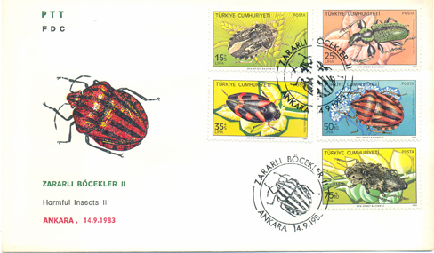 1983 Harmful insects FDC