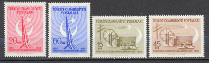 1955 The centenary of the telecommunication in turkey