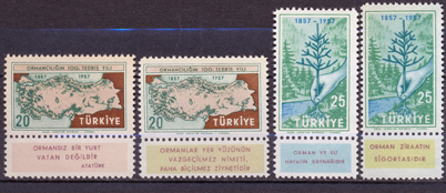 1957 The centenary of the instruction of the forestry in turkey