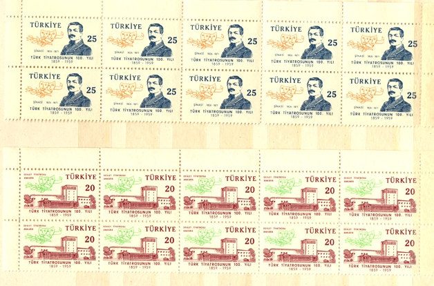 1959 The 100th anniversary of the turkish theater 10 series