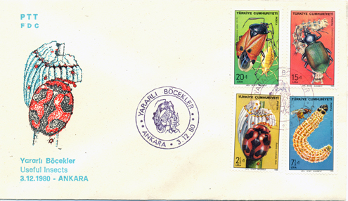 1980 Useful insects FDC